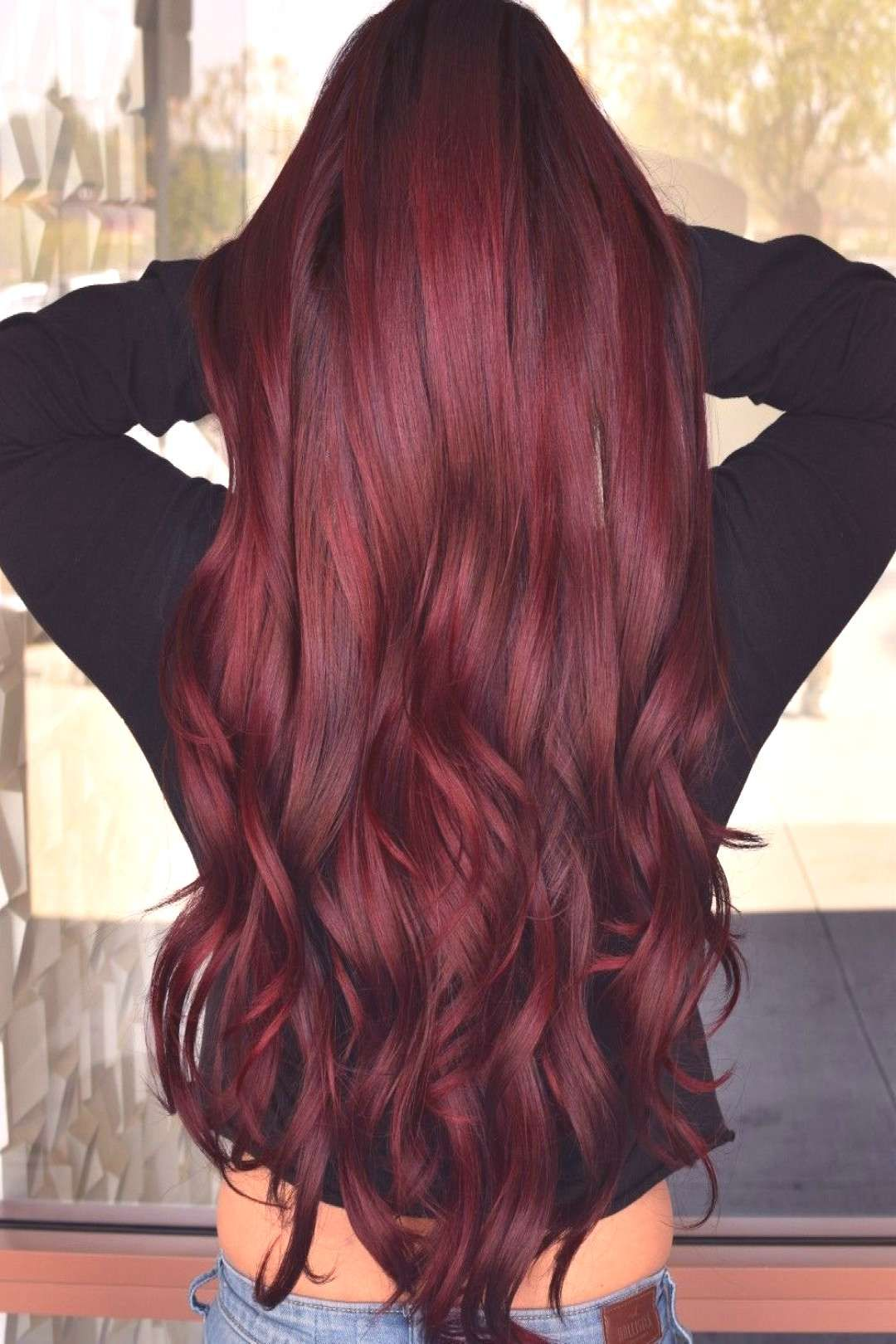 Deep Ruby Wine Hair Red Deep Red Ruby Wine Red Hair Deep Red Ruby Wine Red Hair You Can Find Dark Red Hair A In 2020 Hair Styles Shades Of Red Hair