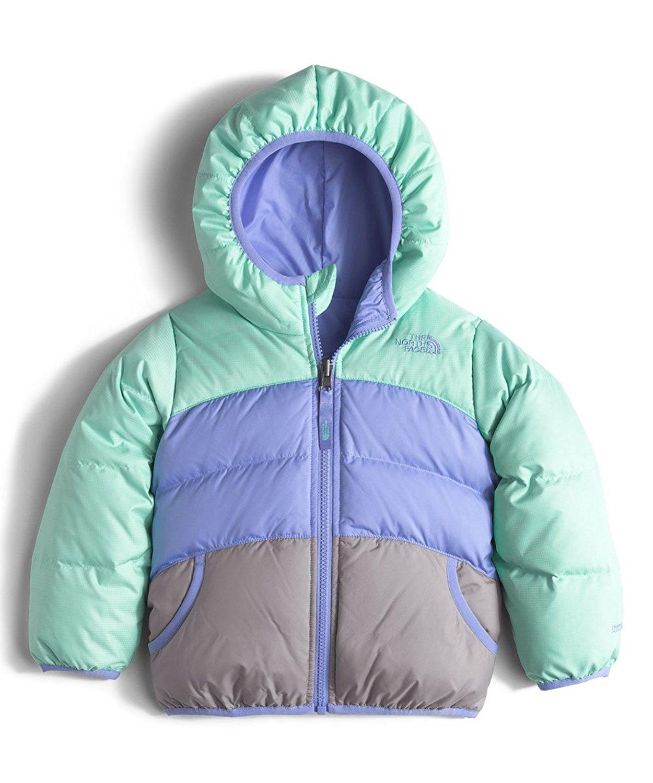 Amazon Com Little Girls Toddler Reversible Moondoggy Jacket Ice Green Heather 2t Clothing Bubble Jacket Kids North Face Girls Jackets [ 1500 x 1250 Pixel ]
