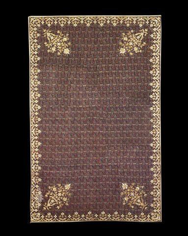 Persia, Qajar embroidered wool panel (termeh), circa 1880