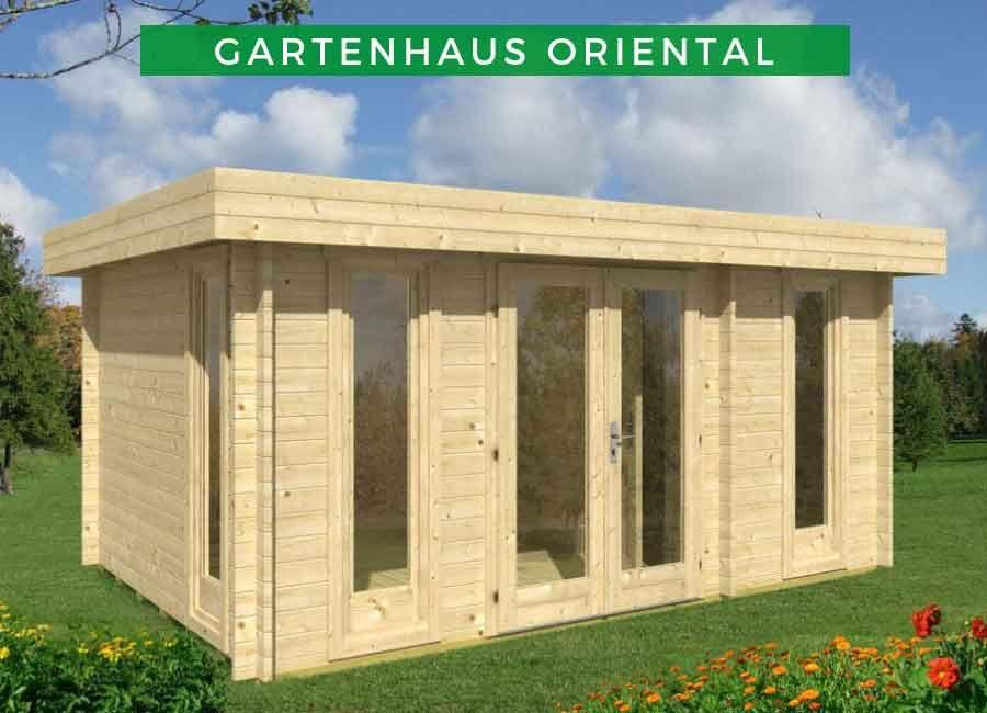 Flachdach Gartenhaus Modell Oriental5 122200.2