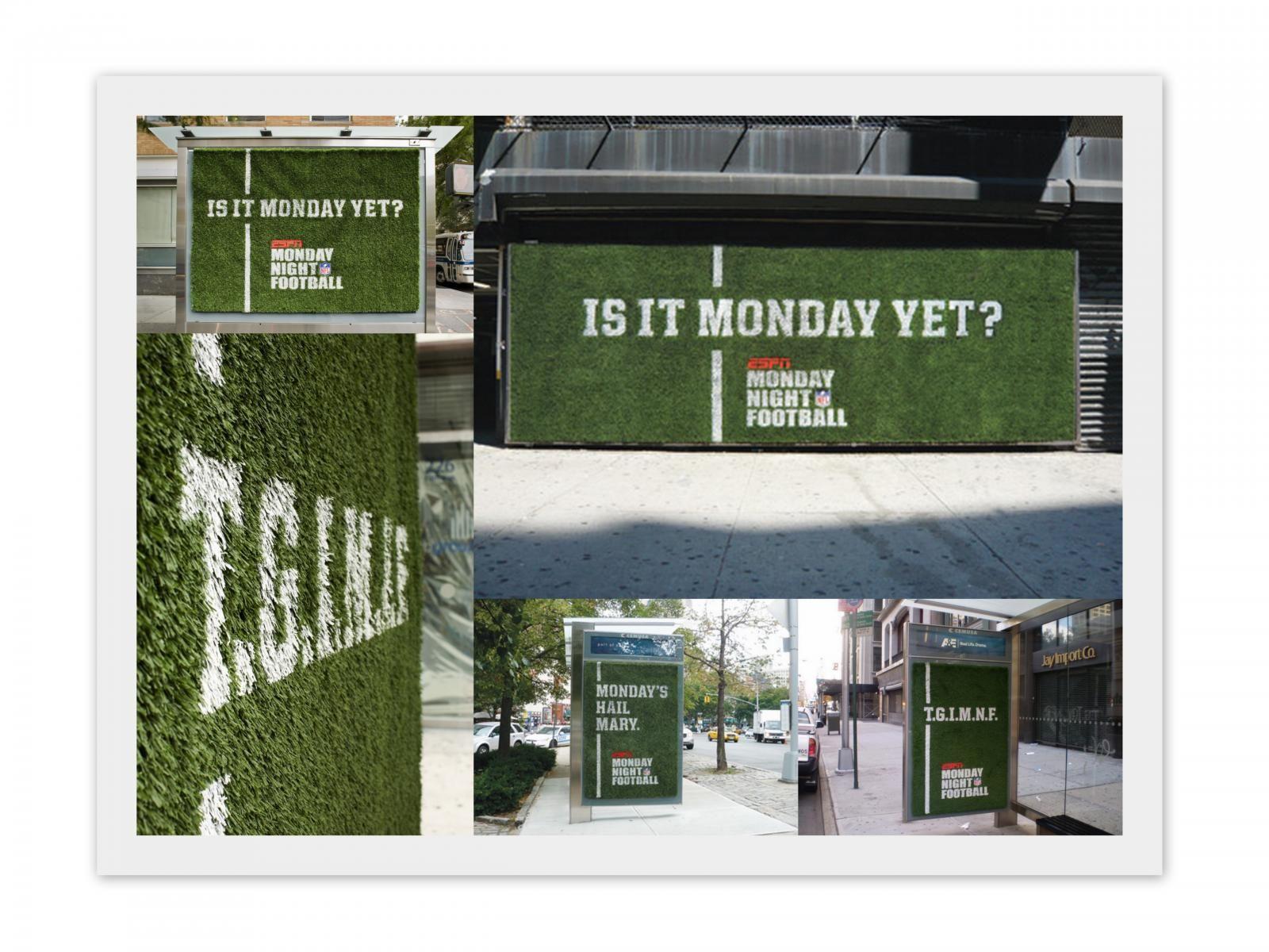 Espn On Abc Monday Night Football Turf Print Ad By Wieden