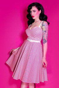 e8db72d67dde0 Vixen by Micheline Pitt Dollface Swing dress in Pink Stripes 102 29 21940  20170607 1