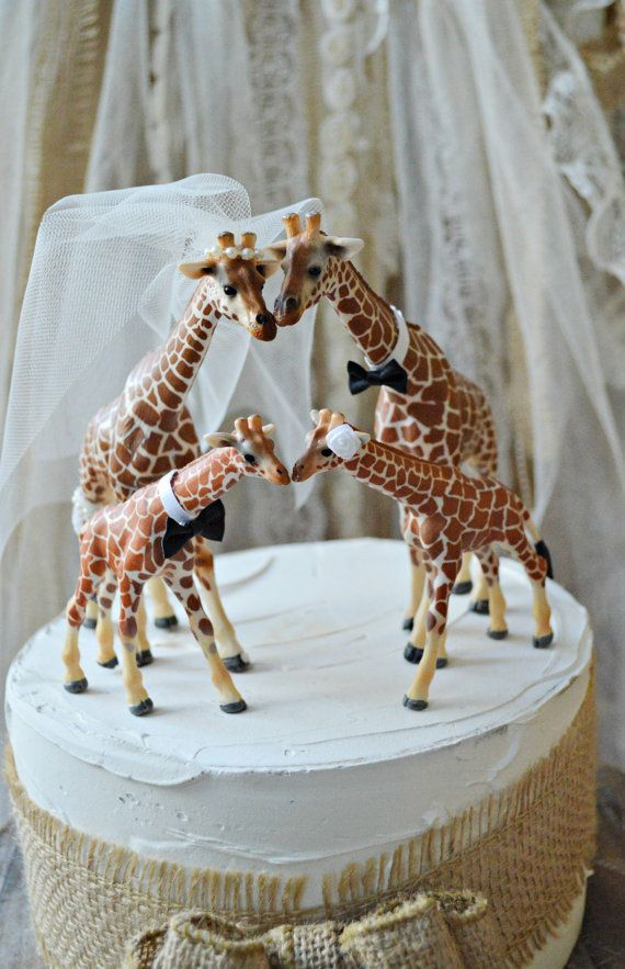 Hey I Found This Really Awesome Etsy Listing At Https Www 156014884 Giraffe Family Wedding Cake Topper