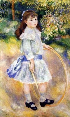 Girl with a Hoop (Marie Goujon) 1885 by Pierre-Auguste Renoir