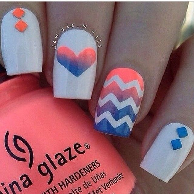 Nail Art Tutorial All I Want For Christmas Is Plaid: Summer Nails Oooohhhh My Gosh Now I Love It Even More