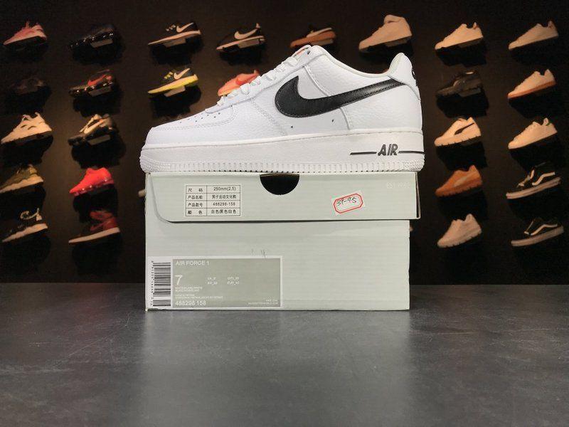 Nike Air Force 1 Low White Black 488298 158 Mens Original
