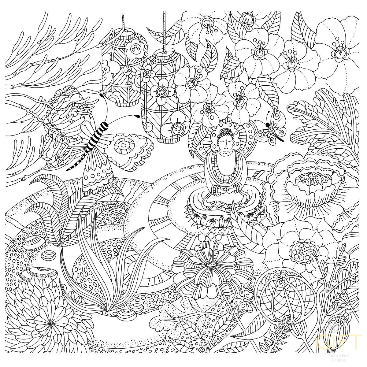 Zen Garden Artists Coloring Book