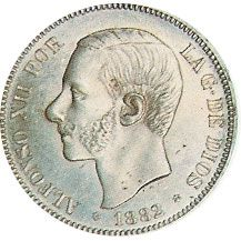 05 Pesetas. (1882)(*18-82) Madrid MS M - MBC