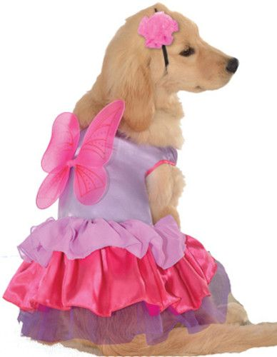 Pet Pink And Purple Pixie Pup Dog Costume Pet Costumes Large