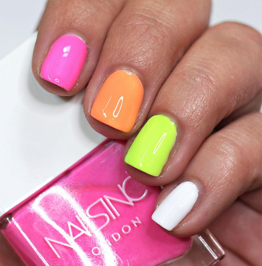 Summer Neon Nail Trends // NAILS INC Rainbow Riot Nail Polish | Neon ...