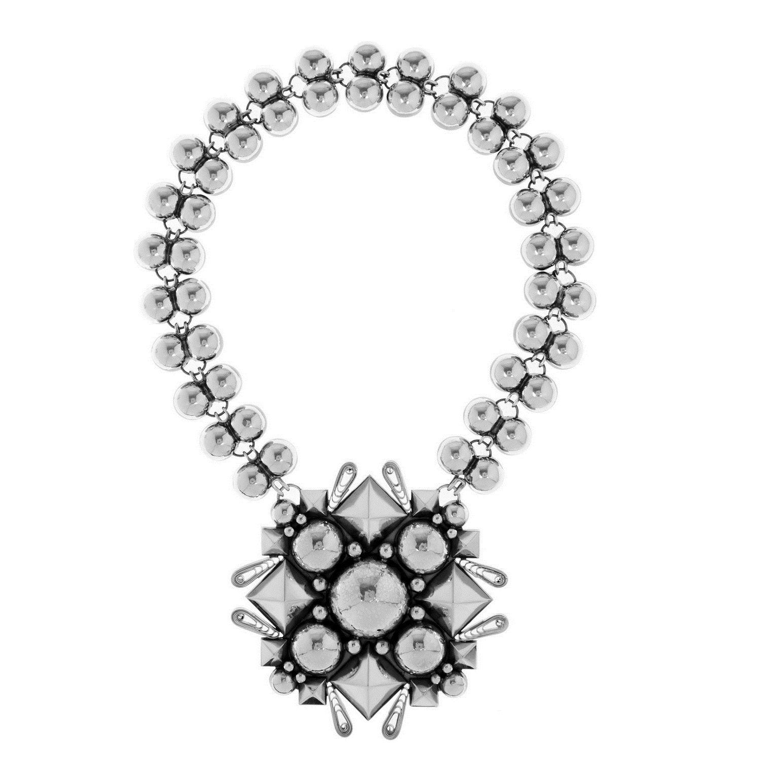 low priced 17403 aab7e Bottega Veneta Oxidized sterling silver necklace | Olivia ...