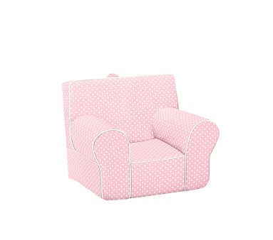 Light Pink With White Piping Mini Dot Anywhere Chair