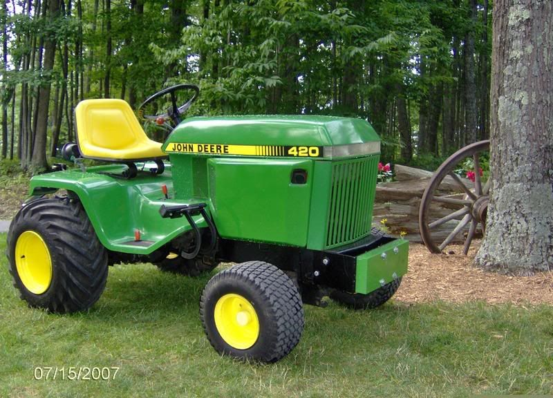 John deere 420 garden tractor here 39 s our 39 85 420 1355 for Garden machinery for sale