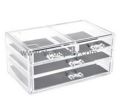 Custom clear container store acrylic makeup drawers CO-353