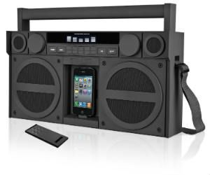 For all you modern Radio Raheems or people being nostalgic about 80ties and 90ties, you need to do the right thing and get this iPod/iPhone Boombox.