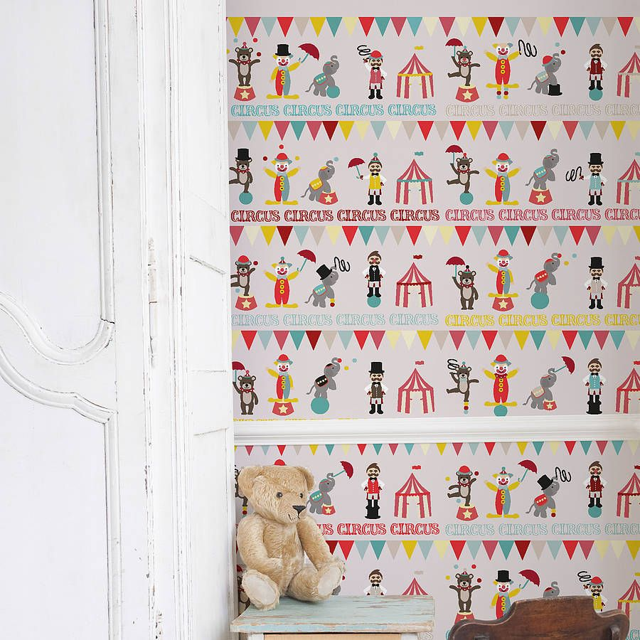 Self Adhesive Wall Paper gorgeous and cute self adhesive children's circus wallpaper for