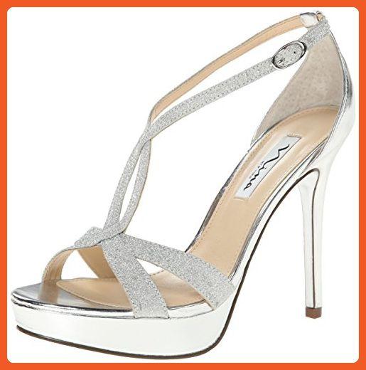 9fbfbe5c22172 Nina Women's Sizzle YY Platform Sandal, Silver, 8.5 M US - Sandals ...