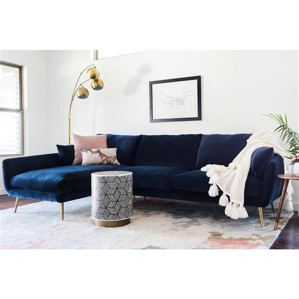 Harlow Sectional Sofa Velvet Sofa Living Room Blue Sofas Living Room Blue Couch Living Room