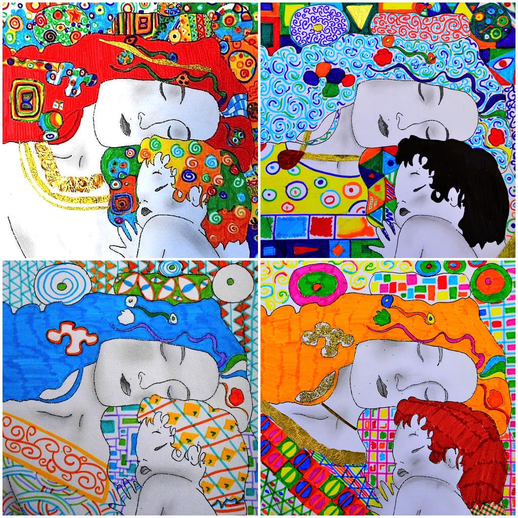 4 Printable Worksheets About Gustav Klimt First Set