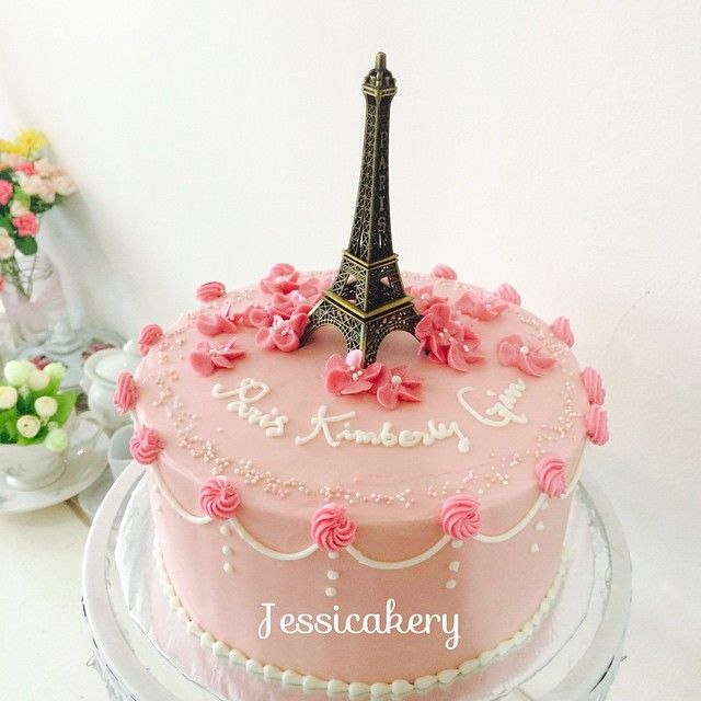Image Result For How To Make A Buttercream Paris Inspired Cake