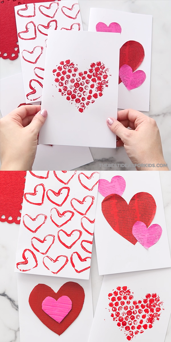 Valentine Card Ideas - so many easy Valentine's day cards for kids to make! Perfect for preschool or toddlers too!