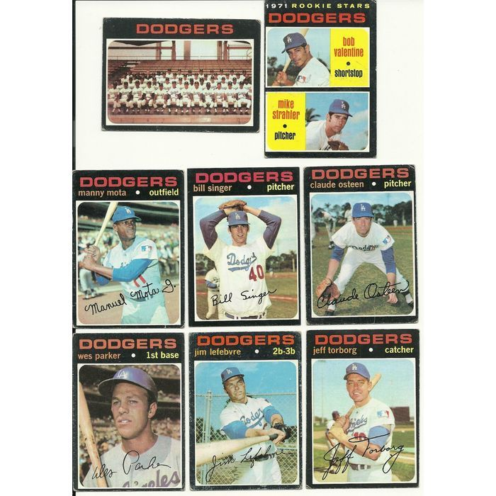 1971 Vintage Topps Dodgers Team 15 Cards Partial Set Lot Osteen
