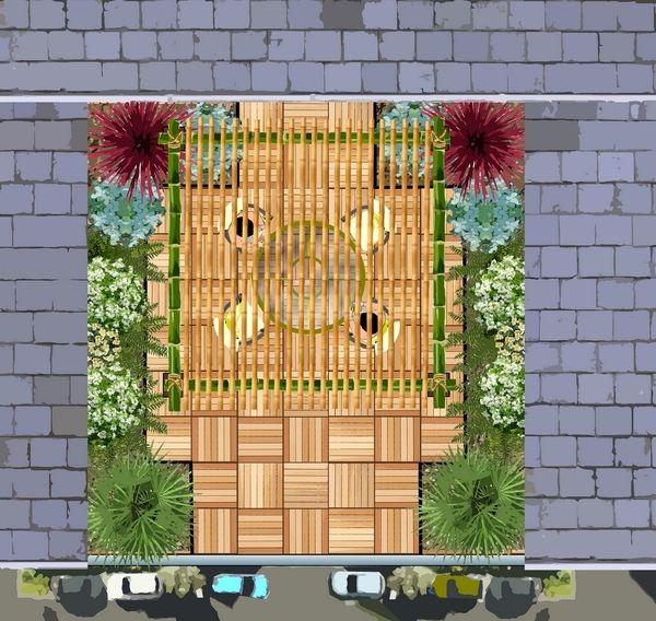Massif d\'arbustes pour un petit jardin : | plans de jardin | Jardins ...