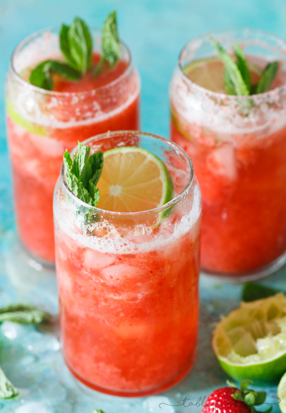 Strawberry Rosé Mint Limeade - Refreshing Summer Drink for Parties