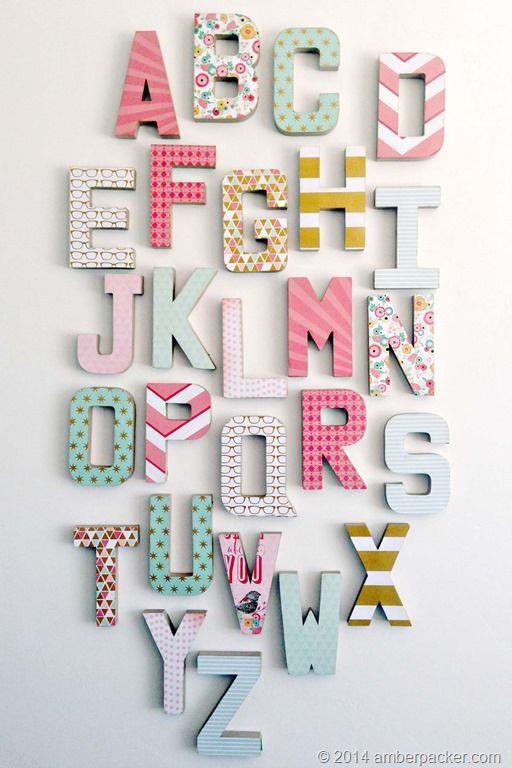 Just Sayin Heyrhonna Alphabet Decor Decoupage Letters