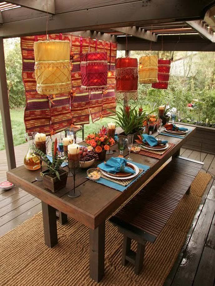 Add To Your Home Decor An Unique Touch Moroccan Inspired Living Bebe Love This Outdoor Dining Area