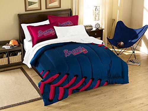 MLB Atlanta Braves Embroidered Comforter TWIN FULL