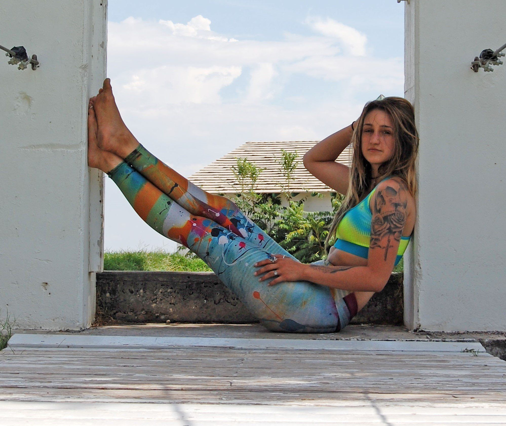 Music By Telegraph Colorful Leggings