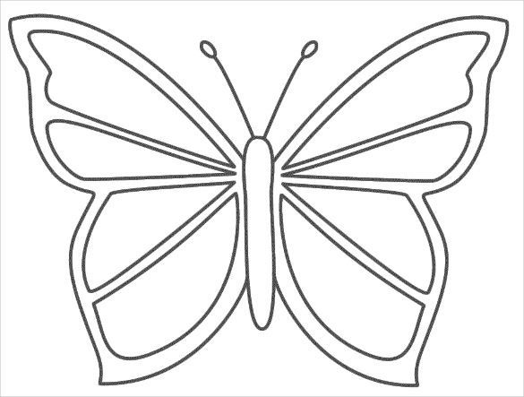 Image Result For Coloring Pages Easy Butterfly Stencil Butterfly Coloring Page Butterfly Printable
