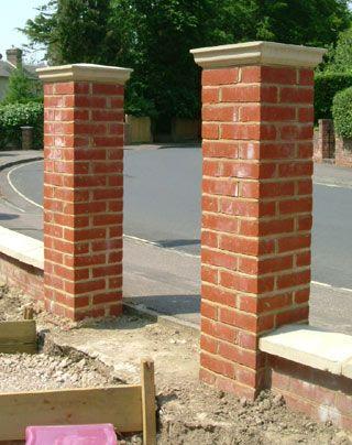 Constructions brick pillar entrance gate picture