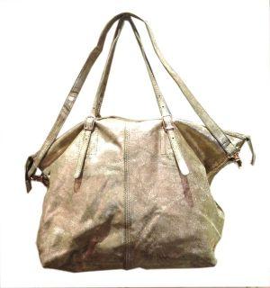 Grand sac cabas en cuir or iris� Imane 190.00�