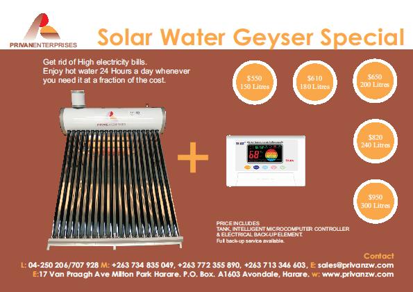 Solar Water Geyser From Prevan Enterprises Water Geyser Solar Water Geyser