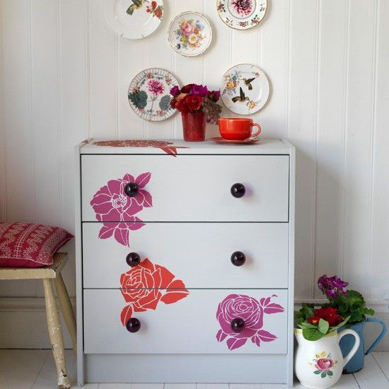decorate furniture. Take A Stencil To Piece Of Budget Furniture Turn It From Run- Decorate Pinterest