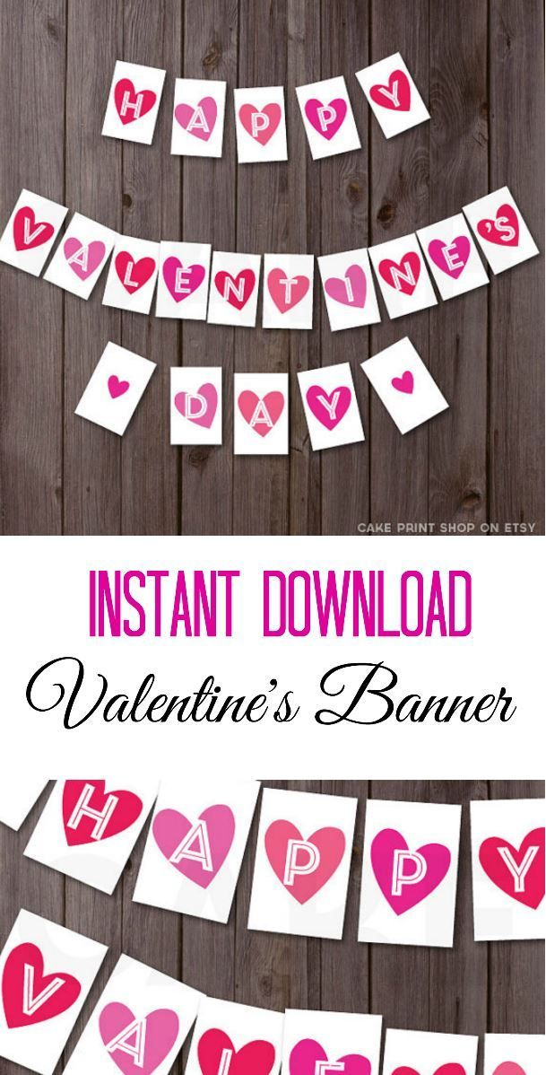 Quick and easy Valentine\'s Day decoration! Just print it out and ...