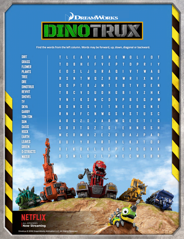 Dreamworks Animation Has Put Together Some Fun Earth Day Themed Activities Featuring King Julien And Dinotrux Both Of Which Have 2 Seasons On Netflix Now