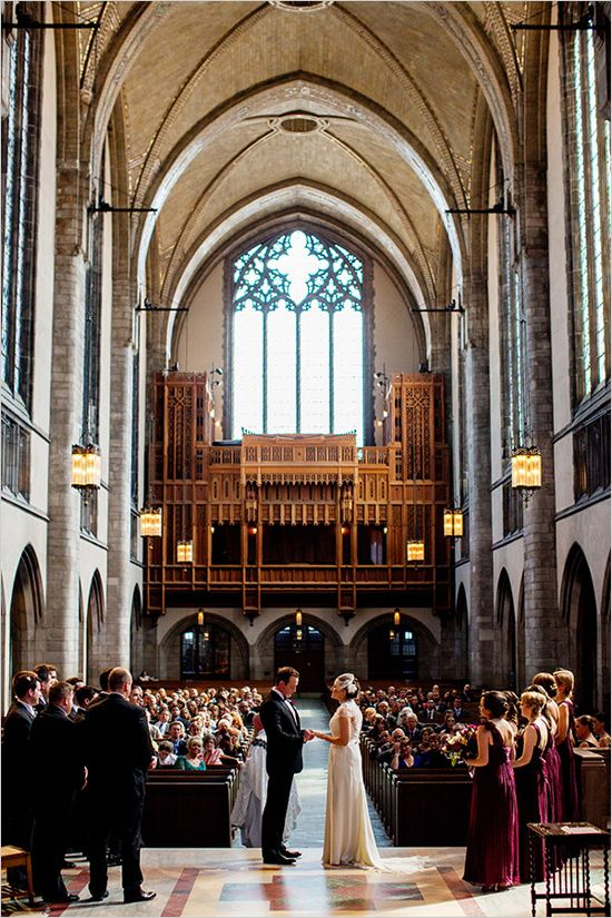 Purple and Gold Cathedral Wedding   Chicago wedding venues ...
