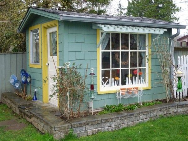 Charmant Backyard Shed | Tiny House Pins   Interested In How The Front Door Is  Located