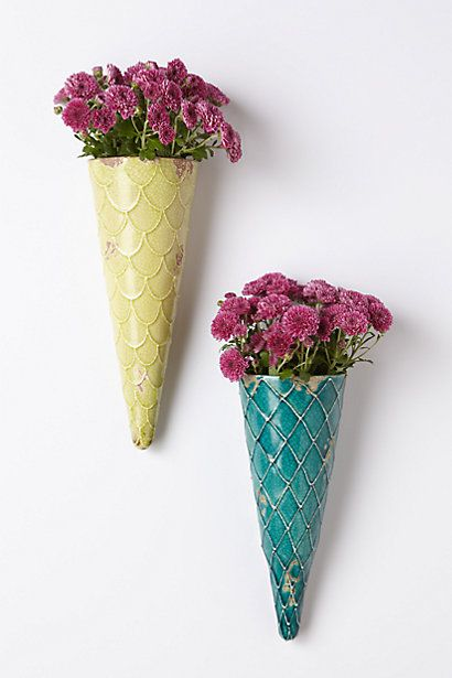 Sugar Cone Wall Planter #anthrofave