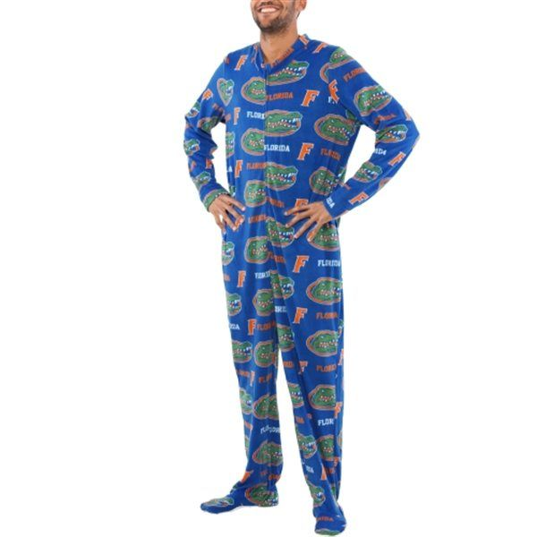 b900a8da Florida Gators Blue Rambler One-Piece ''Mansie'' Footie Pajama Suit ...