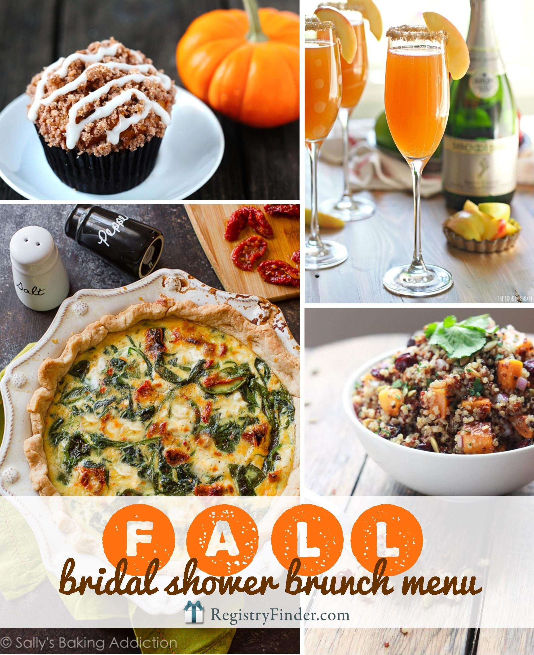 fall bridal shower menu are you planning a bridal shower with your besties check out our fall wedding shower brunch menu minimum effort maximum