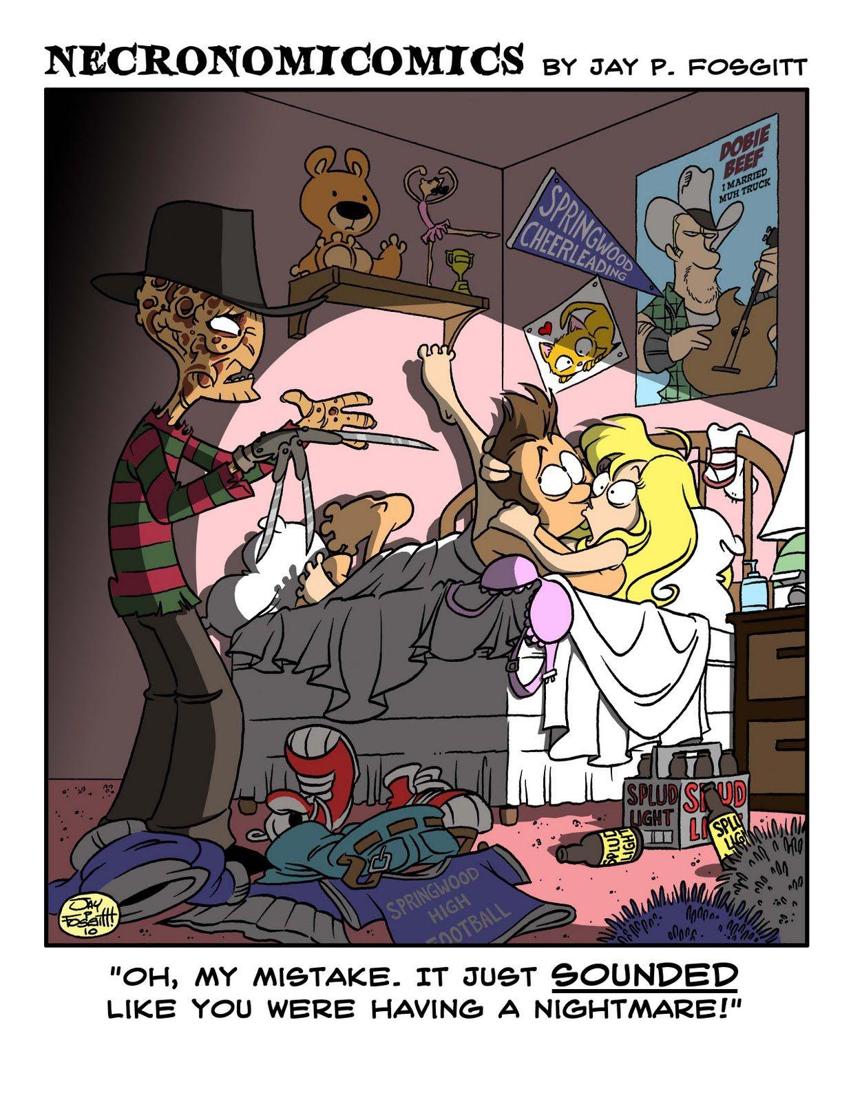 Art Comic Strip Porn - Funny Horror Comic Strip