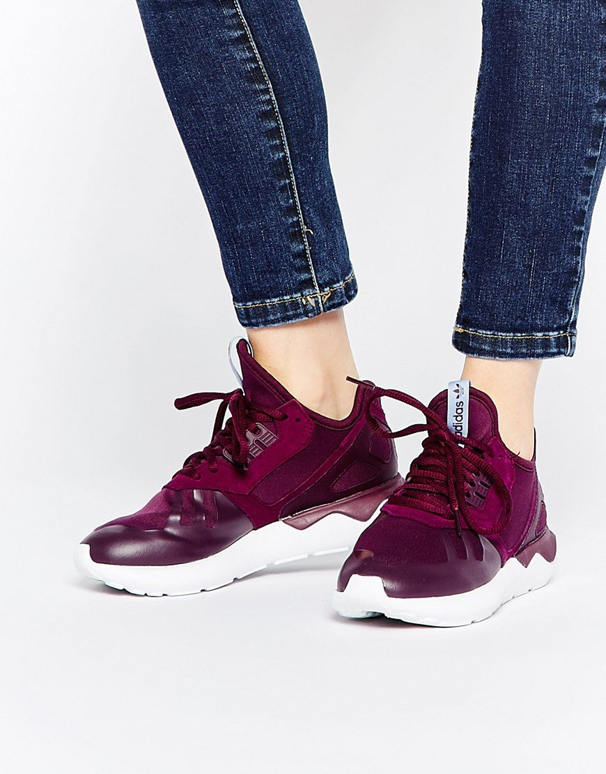 Buy Women Shoes / Adidas Originals Tubular Runner Burgundy Trainers