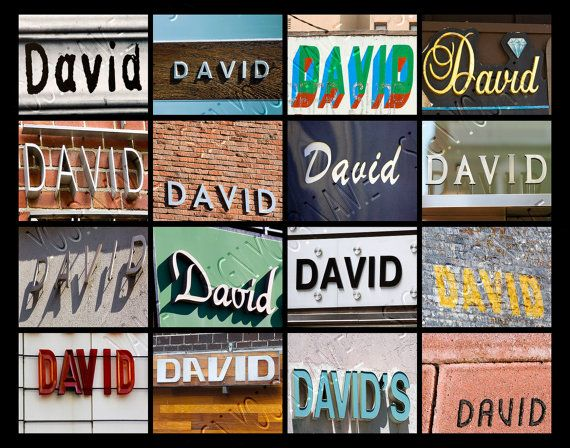 Personalized Poster featuring DAVID showcased in by SignYourNames #david #posters #signs #gifts