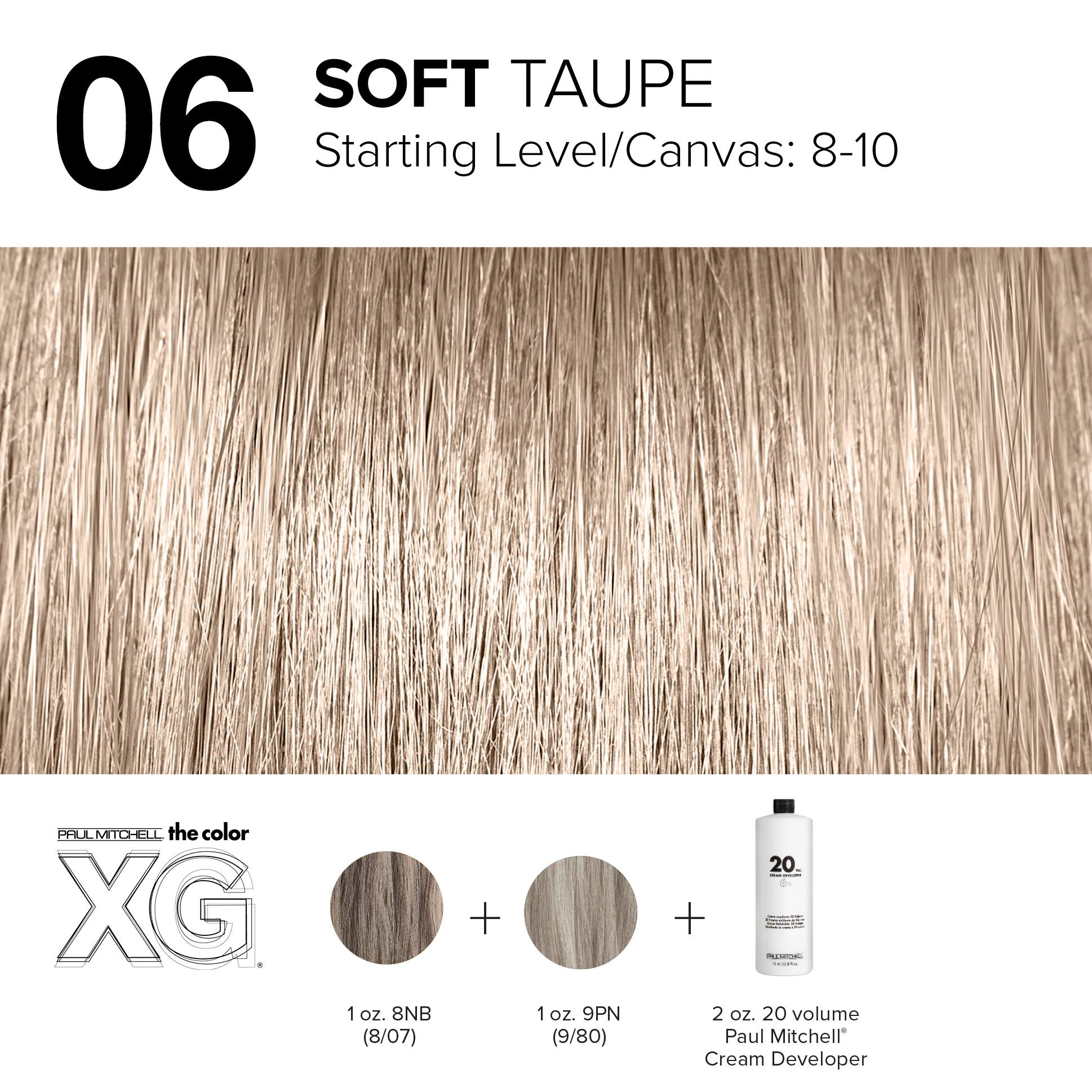 06 Soft Taupe Hair Color Formulas Paul Mitchell Paul Mitchell Color