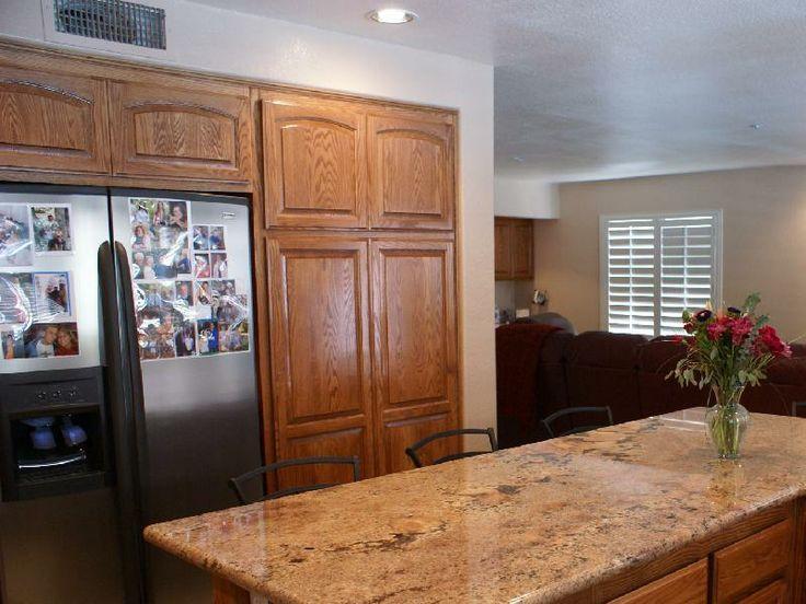 Golden Oak Cabinets With Granite Countertops Kitchen