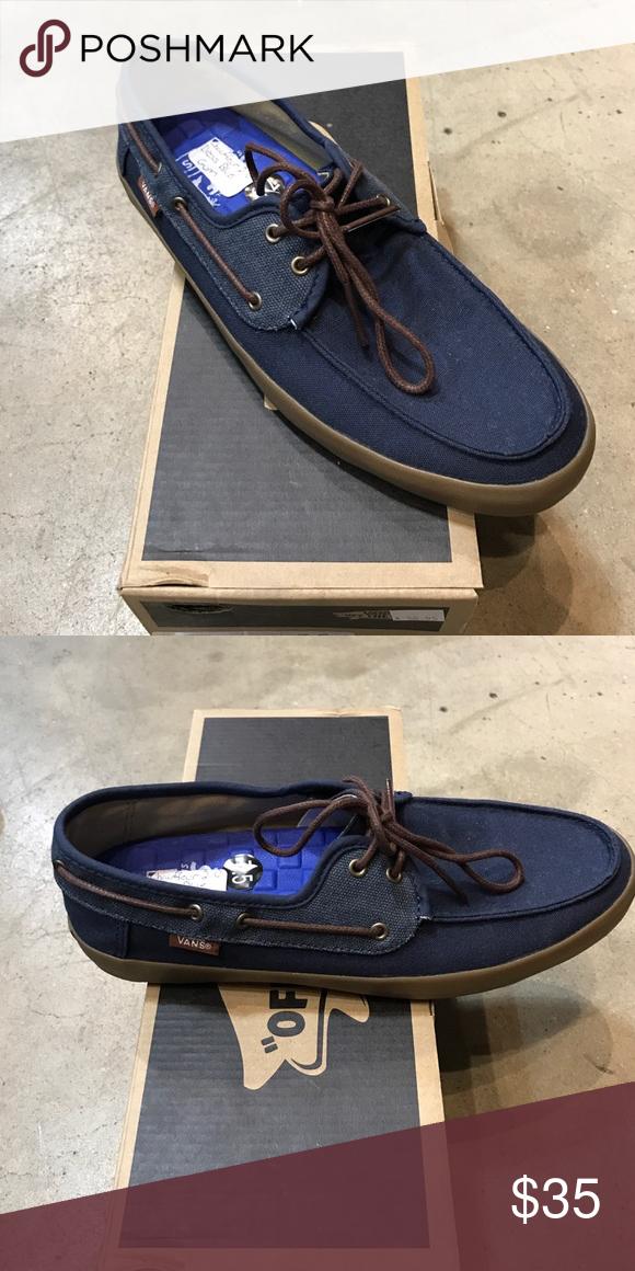 e6e04ca667 Vans Chauffeur (washed) Dress Blue Gum Never worn. Mens sizing. Vans Shoes  Boat Shoes